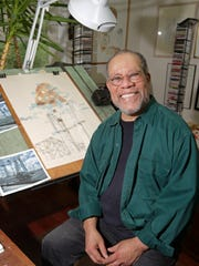 Jerry Pinkney, children's book illustrator, in his