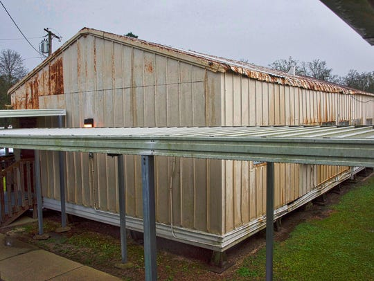 Temporary buildings, just like this one at Plantation