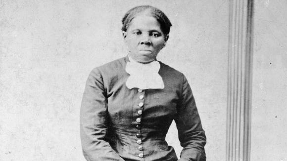 Abolitionist Harriet Tubman, shown in a photo taken between 1860 and 1875.