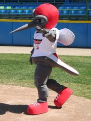 Battle Creek Bombers mascot Moe Skeeter.