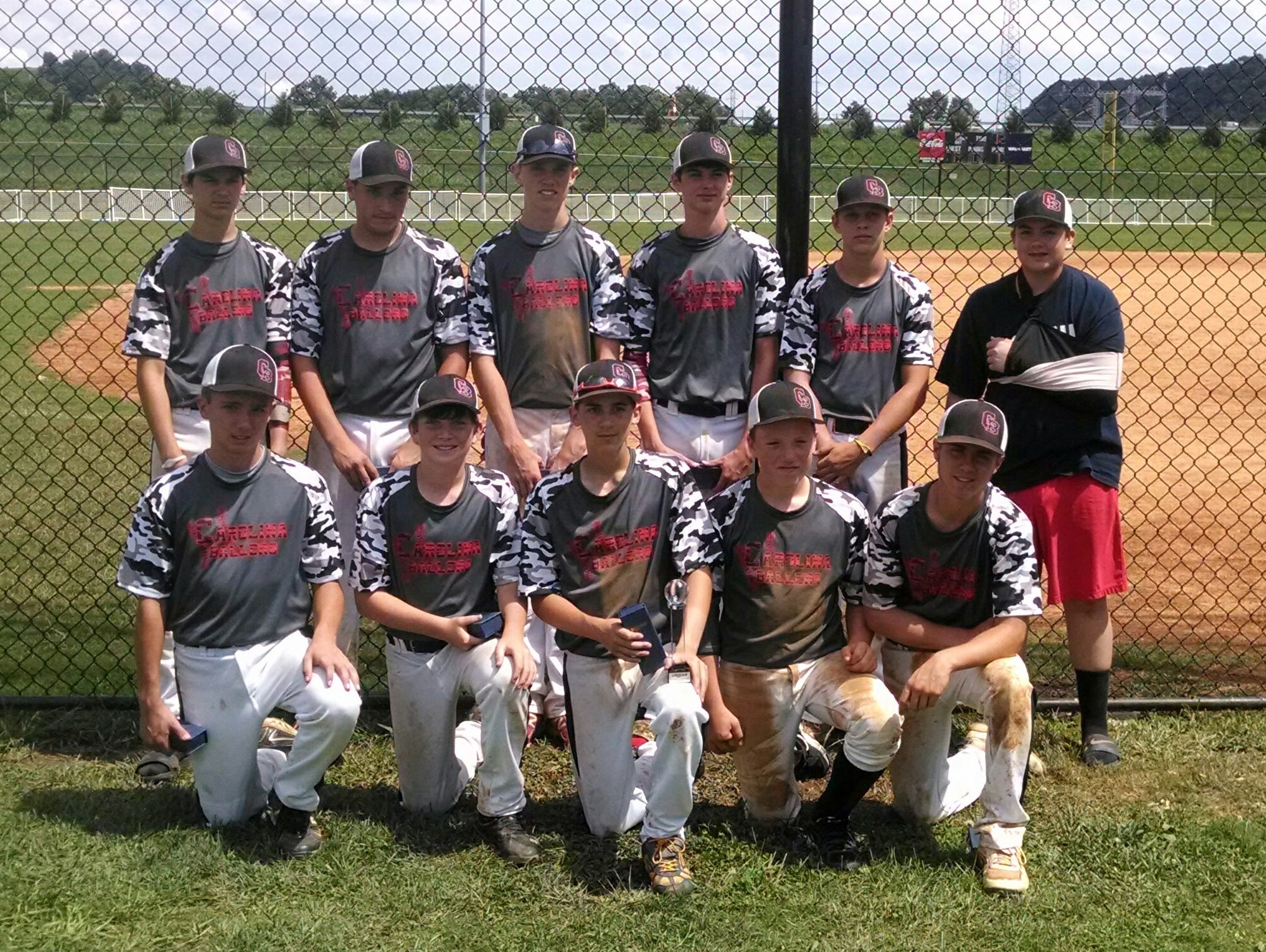 The Carolina Ballers 14U baseball team.