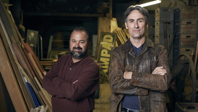 """""""American Pickers"""" stars Frank Fritz, left, and Mike Wolfe plan to visit Indiana in June."""