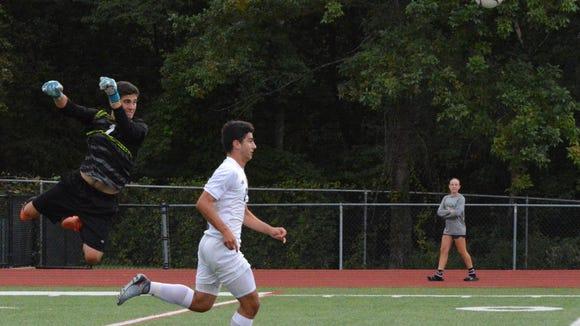 Yorktown forward Besim Bucpapa cruises in for a goal