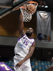 Bighorns' Daniel Ochefu scores against South Bay Lakers