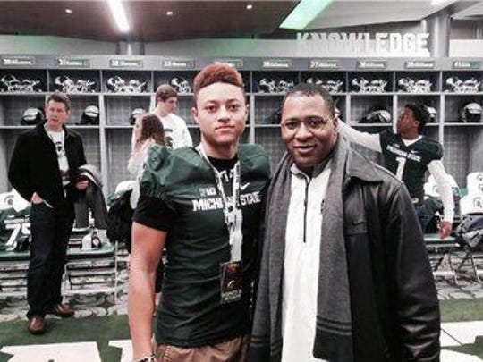 Andre Rison's son, Hunter Rison, received his first scholarship offer from Michigan State