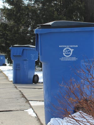 Whitefish Bay plans to issue 95-gallon garbage carts to residents. The carts will be the same size as residents' recycling carts.