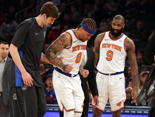big sale a9dd1 2168d Michael Beasley, Tim Hardaway Jr. suffer injuries in Knicks' win