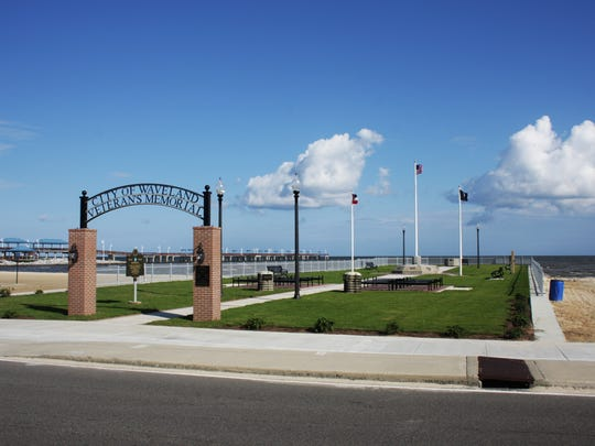 The Veterans Memorial in Waveland, Miss.