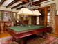 The billiards room at 805 Wind Flower Drive in Sunset.