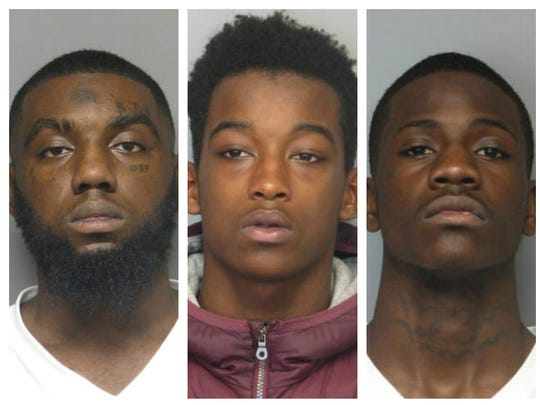 From left, Kevon Harris-Dickerson, Zaahir Smith and Diamonte Taylor have been indicted in the shooting death 15-year-old Brandon Wingo.