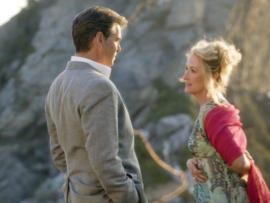 "Pierce Brosnan and Meryl Streep in the first ""Mamma"
