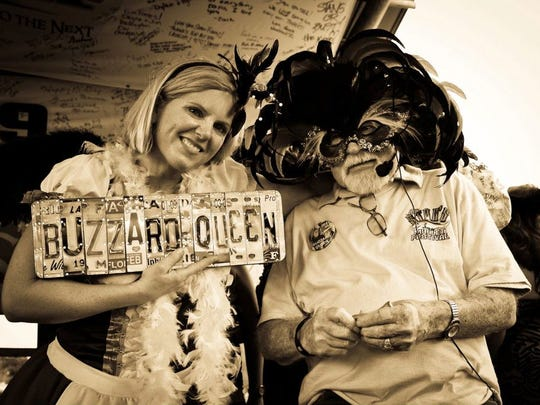 In 2012, Kerri Melzl from Illinois received her award from the late Stan Gober for winning the Buzzard Lope Dance Contest.