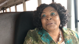 Greenville County school bus driver Brenda Copeland talks about her accident last week when a transfer truck crashed into her bus.