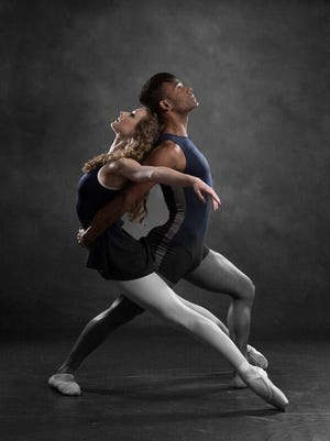 """Whether it's classical ballet or contemporary dance, there is something for all tastes when The Tallahassee Ballet presents """"An Evening of Music & Dance"""" at 7:30 p.m. Friday and 2:30 p.m. Sunday in Opperman Music Hall 114 N. Copeland St. at the Florida State College of Music. Tallahassee Ballet dancers Hope Eltomi and Jorge Arceo are shown here.Tickets prices range from $10 to $48. Visit www.tallahasseeballet.org."""