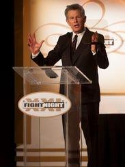 David Foster introduces Josh Groban at Celebrity Fight