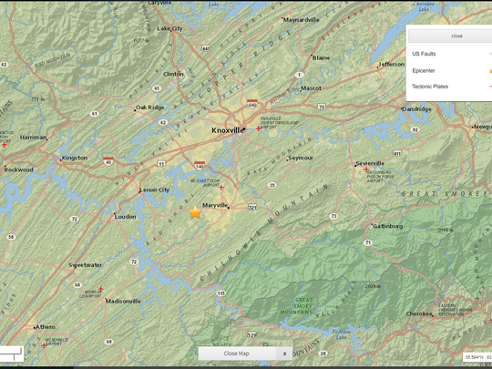 A 2.4 magnitude earthquake was recorded in Friendsville, Tennessee on Friday, August 3, 2018.