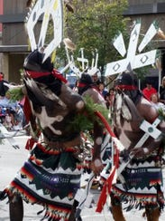 Crown dancer groups from the White Mountain Apache