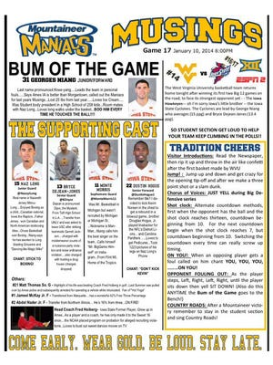 West Virginia Mountaineer Maniacs Scouting Report