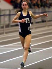 Randolph sophomore Abby Loveys won the Morris County 1,600 meters.
