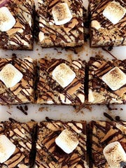 Some folks think Mallomars begat s'mores which eventually begat these luxurious looking cookie bars, made at Kara Kakes in Franklin Lakes.