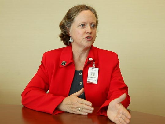 Dr. Mary McMasters talks with The News Leader during an interview in 2014.
