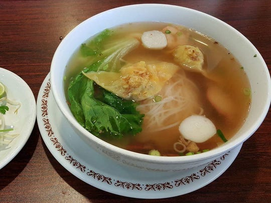 The Cambodian Style Fresh Noodle Soup ($9.49) at Pho