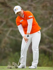 Inbee Park hits from the seventh fairway during round three of the CME Group LPGA Championship at Tiburon Golf Club in Naples on November 22, 2014.