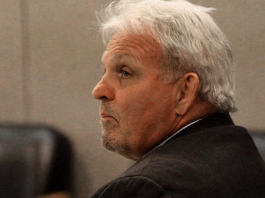 Former Wall Schools Superintendent James Habel is pictured at his official misconduct trial in 2015.