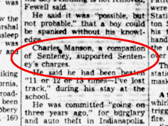 They did not spare the rod, at least according to a 16-year-old Charles Manson.