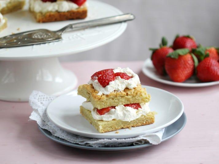 Homemade Strawberry Shortcake Recipe.