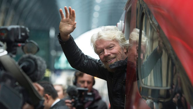 Virgin Group Founder Sir Richard Branson during the launch of a new fleet of trains for the Virgin Trains' East Coast Mainline route in London.