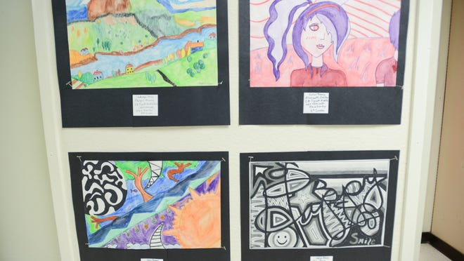 Artwork from students in kindergarten through twelfth grade were displayed last week at the JMCSS Annual Art Show and Reception. Teachers from around the school district chose what would be shown and more than 150 pieces were on display.