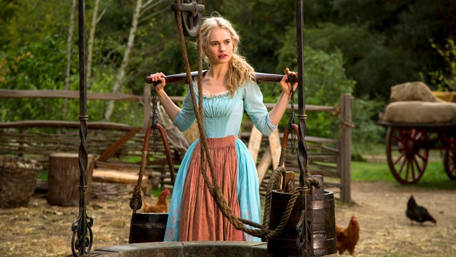 """Lily James of """"Downton Abbey"""" fame is Cinderella in Disney's """"Cinderella."""""""