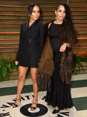 Actresses Zoe Kravitz (L) and Lisa Bonet.