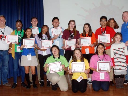 Recipients of the Susan Hudak Leadership award at the