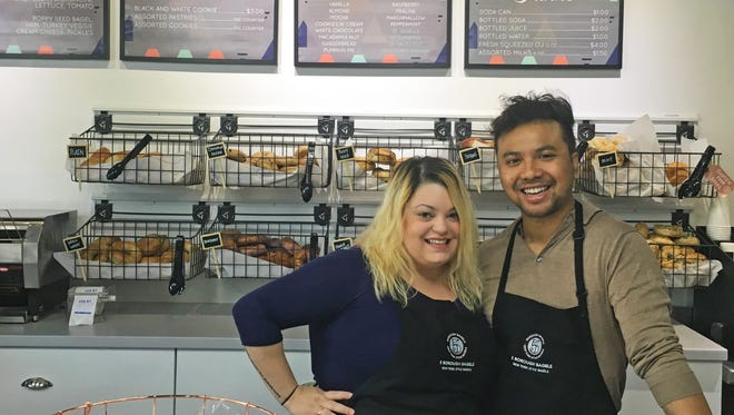 Toney and Sarah Chem opened 5 Borough Bagels this year in Clive. The shop offers New York-style bagels and sandwiches, along with house-made cream cheese, gourmet coffee and fresh-squeezed orange juice.