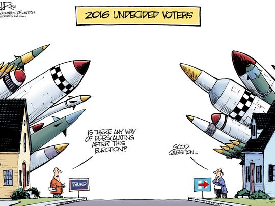 Nate Beeler, The Columbus Dispatch, drew this editorial