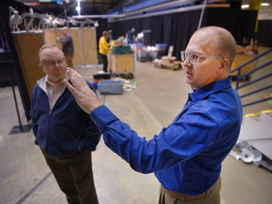 Sioux Falls Finance Director Tracy Turbak, left, and