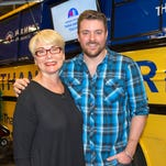 """Country singer Chris Young, left, as Javert is a 2002 production of """"Les Miserables."""""""