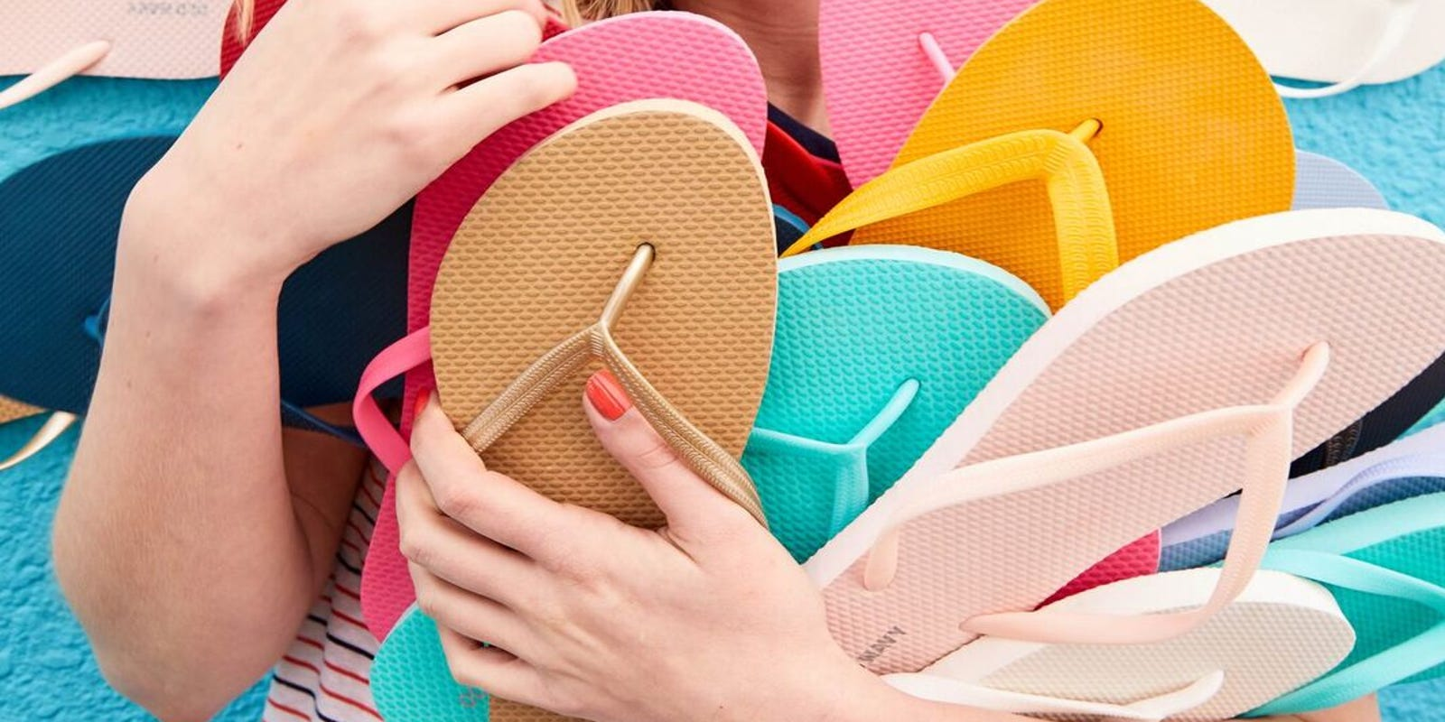 7ac2b2666fa231 Stock up time! Get  1 flip flops during Old Navy s June 25 online sale