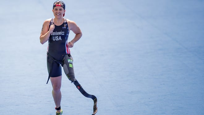 Wauwatosa native Hailey Danz captured a silver medal in the women's paratriathlon at the Paralympic Games in Tokyo.
