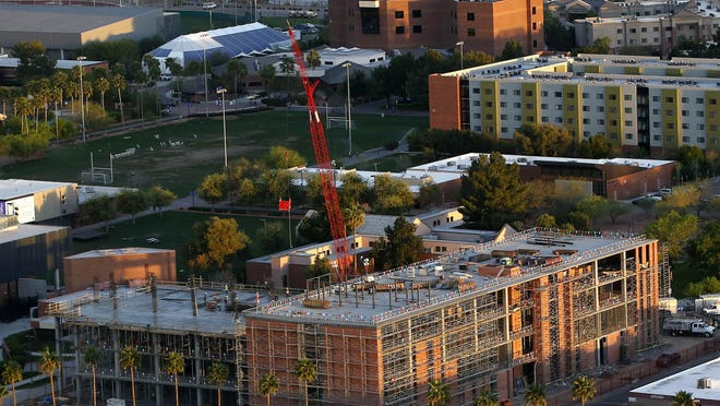 An aerial view of Grand Canyon University.