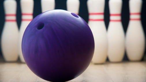 webart sports bowling ball and pins