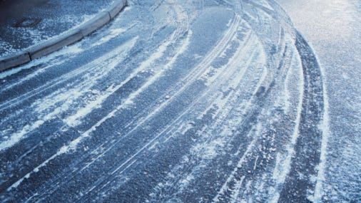 Icy roads are a possibility today.