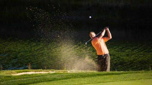 Golfer Making a Shot