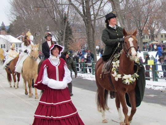 The Equestrian Parade is a big draw in Woodstock, Vt.