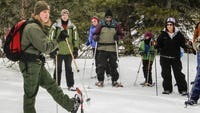 I am often asked the best place to go for a first snowshoe with amenities for family and friends.