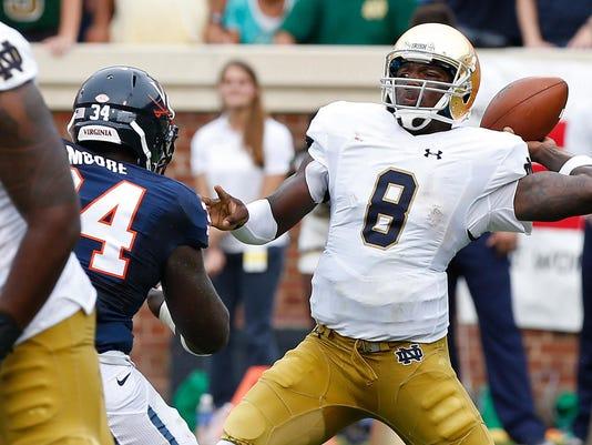 NCAA Football: Notre Dame at Virginia