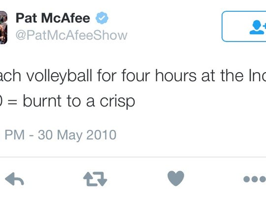 Colts punter Pat McAfee also loves volleyball.