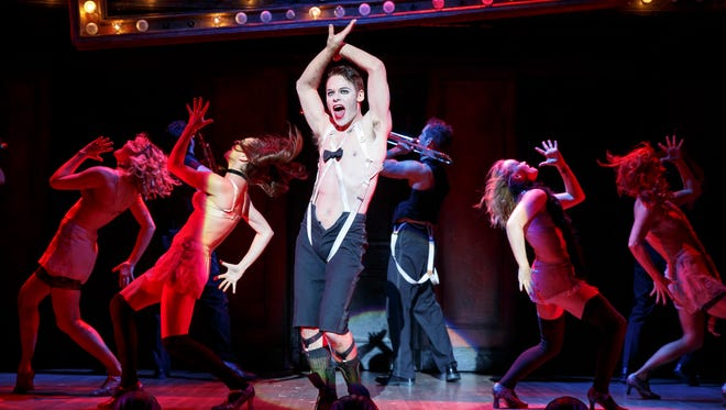 "Randy Harrison (center) stars as the emcee in ""Cabaret."" Harrison graduated from the University of Cincinnati College-Conservatory of Music's musical theater program in 2000."